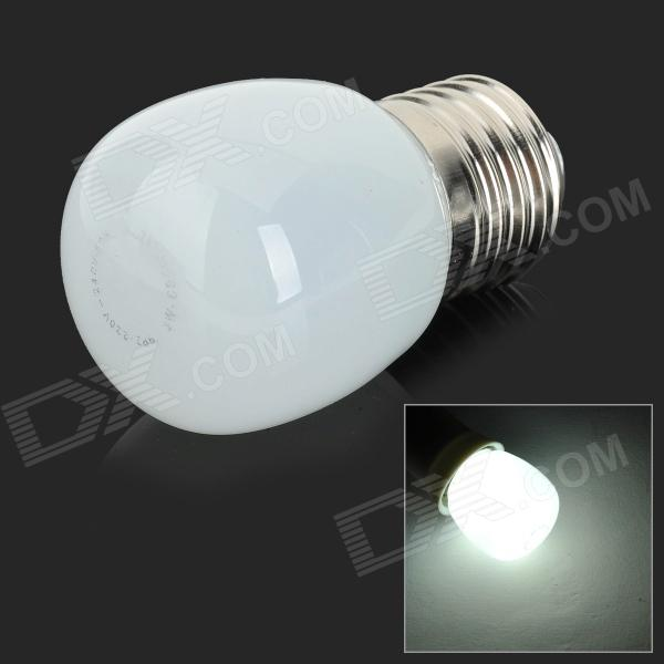 JRLED E27 3W 200LM 6500K 10-2835 SMD LED White Light Bulb - White + Silver (AC 220~240V)