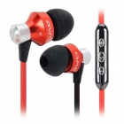 AWEI S950Vi 3.5mm In-Ear Earphone w/ Microphone for IPHONE / Samsung + More - Black + Red