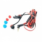 AWEI S950Vi 3.5mm In-Ear Earphone w/ Mic for Samsung - Black + Red