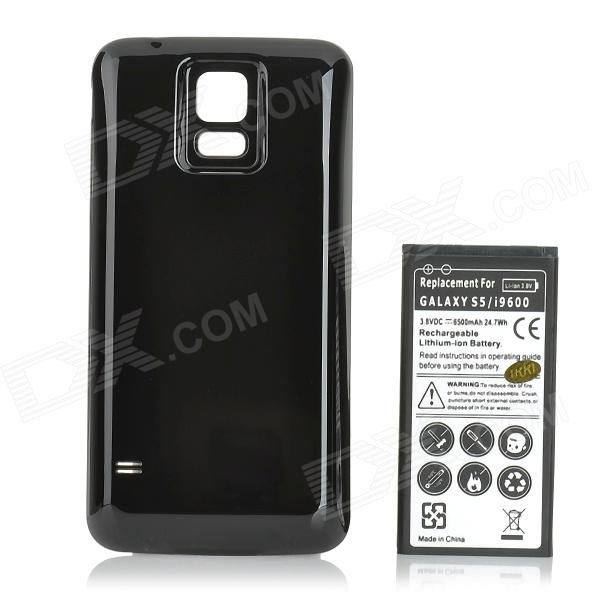 IKKI 3.8V 4800mAh Dual-battery Thickened Li-ion Battery w/ Back Case for Samsung Galaxy S5 - Black
