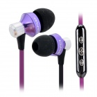 AWEI S950Vi 3.5mm In-Ear Earphone w/ Microphone for IPHONE / Samsung + More - Black + Purple