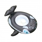 Baby's Whale Style Inflatable Yacht PVC Swim Seat Ring Swimming Trainer - Black