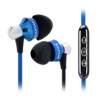 AWEI S950Vi 3.5mm In-Ear Earphone w/ Microphone for IPHONE / Samsung + More - Black + Blue