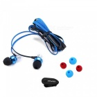 AWEI S950Vi 3.5mm In-Ear Earphone w/ Mic for Samsung - Black + Blue
