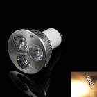 KINFIRE GU-3W GU10 3W 240lm 3000K 3-LED Warm White Light Spotlight - Silver (AC 85~265V)