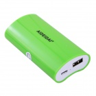 "AIDEIDAI P5023 ""5600mAh"" USB 18650 Battery Mobile Power Bank - Green"