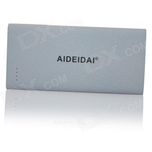 AIDEIDAI P5015-8 8000mAh USB Li-polymer Battery Mobile Power Bank - Silver Grey акс panasonic kx tde0110xj