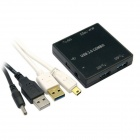 CY U3-033 5Gbps 3-Port USB 3.0 HUB with SD Card Reader for Macbook Laptop - Black