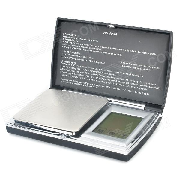 Portable Digital Scale - Black (2 x AAA / 0.1g / 1000g) 1 8 lcd portable jewelry digital pocket scale 500g 0 1g 2 x aaa