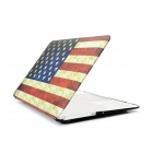 Angibabe Retro US Flag Dust-proof Waterproof Notebook Skin Cover for Apple Macbook  Air 11.6 inch