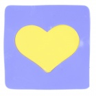 Magic Heart Style Anti-slip Vehicle Silicone Mat Pad - Purple + Yellow