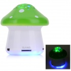 SLANG F28 Mini Mushroom Rechargeable Media Player Speaker w/ RGB LED / USB 2.0 / TF / FM - Green