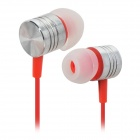 Exklusive Private ROT-01 3.5mm In-Ear-Ohrhörer w / Staub-Stecker - Rot + Silber