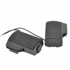 2.0-CH 3,5 mm plug USB Speaker Portátil Porto Wired-Preto (5V)