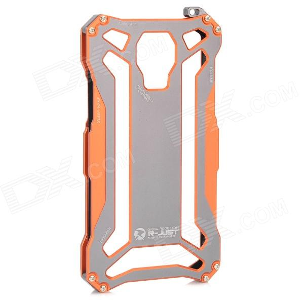 R-JUST Aluminum Alloy Protective Back Case for Samsung Galaxy S5 - Grey + Orange