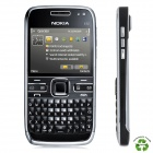 "Refurbished Nokia E72 Symbian OS WCDMA Bar Phone w/ 2.36"" Screen, Bluetooth, FM Radio - Black"