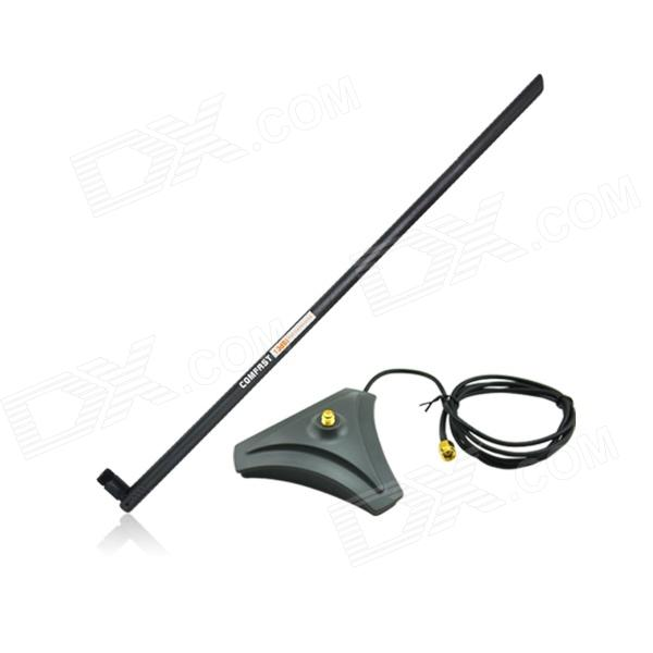 COMFAST 2.4GHz 13dBi Wireless Wi-Fi High Gain Omni Antenna for SMA Connector - Black