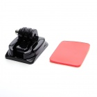 JUSTONE Universal Curved Surface Mount Kit for Gopro Hero 3 / 3+ / 2 / 1 - Black + Red