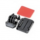 Universal Curved Surface Mount Kit for Gopro Hero 4/ 3 / 3+ / 2 / 1/SJ4000 - Black + Red