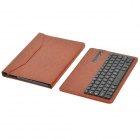 Detachable 64-Key Bluetooth V3.0 Keyboard w/ Flip Open Case for Samsung P600 T520 - Brown + Black