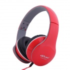 Ditmo 3.5mm Foldable Stereo Headphone for MP3 Player / Mobile Phones / Other Devices - Red