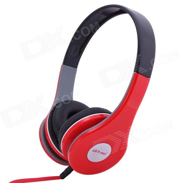 Ditmo Adjustable Headband 3.5mm Stereo Headphone - Red - DXHeadband Headphones<br>Color Red Brand Ditmo Model DM-2580 Quantity 1 Piece Material ABS Shade Of Color Red Interface 3.5mm Wireless or Wired Wired Powered By OthersPower Free Headphone Frequency Response 20~20000Hz Impedance 32±15% ohm Microphone Frequency Response No Sensitivity 94dB S.P.Lat 1KHz Sound Card No Other Features 1) Note: This headphone does not have volume control button2) Standard 3.5 mm plug pin fits for different kinds of multimedia device such as IPOD mp3 mp4 PSP mobile phone and personal computer 3) One sided design of the earphone line makes you wear and remove the headphone easily 4) Wide head beam and lightweight design makes you feel more comfortable when you use the headphone Packing List 1 x Headphone 1 x Audio Cable (1.2m)<br>