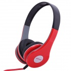 Ditmo Adjustable Headband 3.5mm Stereo Headphone - Red
