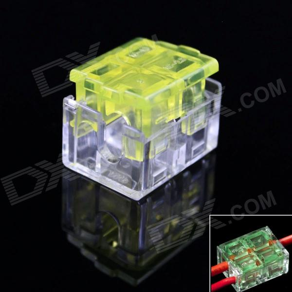 910037-2 Strip-Free Quick-connecting Wire / Cable Connectors - Transparent + Yellow (5 PCS)