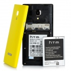 """HTM M1W Android 4.2.2 Dual-core WCDMA Bar Phone w/ 4.7"""" Screen, Wi-Fi and GPS - Yellow"""