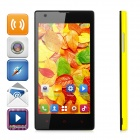 "HTM M1W Android 4.2.2 Dual-core WCDMA Bar Phone w/ 4.7"" Screen, Wi-Fi and GPS - Yellow"