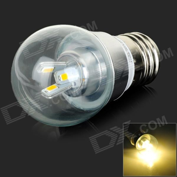 MLSLED E27 3W 240lm 3500K Warm White 5730 SMD LED Light Bulb - White + Silver (AC 85~265V) g9 3w 150lm 3500k 3 smd 5630 led warm white light bulb white silver 230v