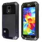 Redpepper Aluminum Alloy Gorilla Glass Waterproof / Shockproof Case for Samsung Galaxy S5 - Black
