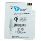 Itian A3 QI Standard Wireless Charger + Receiving Module for Samsung Galaxy S5 - Black
