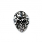 Skull Style Stainless Steel Finger Ring - Silver Black (U.S Size 11)