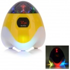 SLANG TY-030 Multi-function Rechargeable Media Player Speaker w/ RGB LED / USB / TF / FM - Yellow