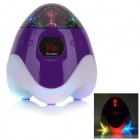 SLANG TY-030 Multi-function Rechargeable Media Player Speaker w/ RGB LED / USB / TF / FM - Purple