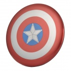 MARVEL CT35 Captain America Shield Shape 3500mAh USB-Port Li-polymer Mobile Power Bank - Red