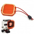 PANNOVO Protective Lens Filter w/ Hang Rope for GoPro Hero 3 - Red