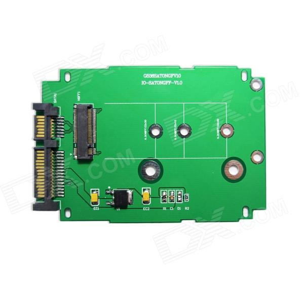 IOCREST SI-ADA40083 M.2 (NGFF) to 2.5 SATA III Card - Green нивелир ada cube 2 360 home edition a00448