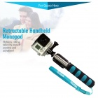 "TELESIN C00935 42.5"" Retractable Remote Monopod for GoPro Hero 2 / 3 / 3+ / 4 - Black + Blue"