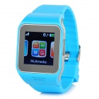 "V9 GSM & Bluetooth Wrist Watch Phone w/ 1.5"" Screen, Quad-band, FM - Blue"