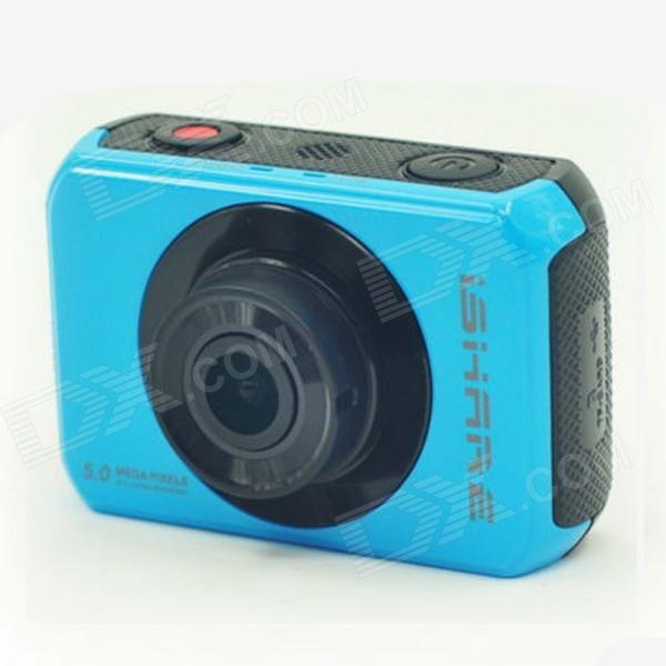 ishare S200 2.0 LCD CMOS 1080P Full HD Waterproof Camera for Bike / Surfing / Outdoor Sports - Blue ishare s200 2 0 lcd cmos 1080p full hd waterproof sport camera for bike surfing outdoor sports