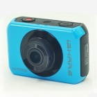 "ishare S200 2.0"" LCD CMOS 1080P Full HD Waterproof Camera for Bike / Surfing / Outdoor Sports - Blue"