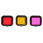 Underwater Color-Correction Filter Kit for GoPro Hero 4/3+ -Multicolor
