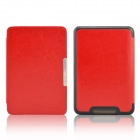 EPGATE-Protective PU Leather Flip Case Cover for Tolino Shine - Red