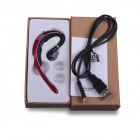 BOW H8800 Rechargeable Bluetooth V3.0 Mini Oreillette Headset w / Microphone - Noir + rouge