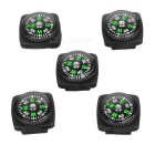 Mini Compass Set - Black + Green (5PCS)