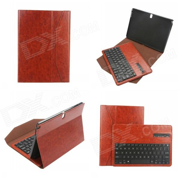 EPGATE- Wireless Bluetooth V3.0 Keyboard + Protective PU Leather Case for Samsung T530 - Brown