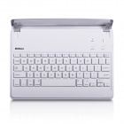 B.O.W Rechargeable Bluetooth V3.0 64-Key Keyboard for IPAD Air w/ Dock Station - White + Silver