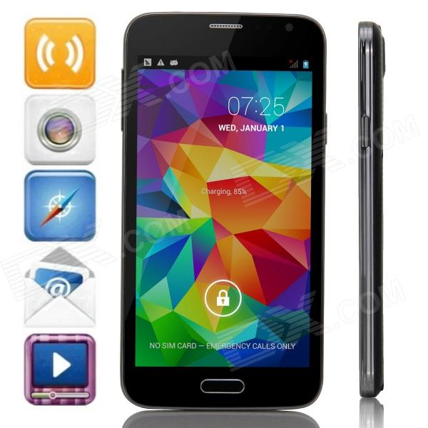 "Z.doxio G900H MTK6572 Dual-Core Android 4.4.2 WCDMA Bar Phone w/ 5.0"" IPS, Wi-Fi, FM, GPS - Black"